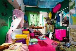 ...也常常动手改造旧家具,房间里很多破旧的家具到她手里变得焕然一...