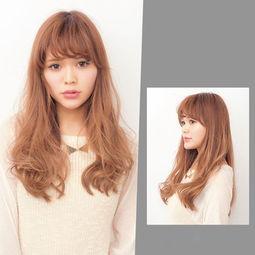 女生大卷中长发型,大卷发型图片中发,女生大卷发型图片