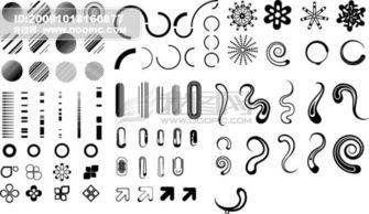...710213 其他矢量图 我图网www.ooopic.com -黑白简单图形系列 的同...