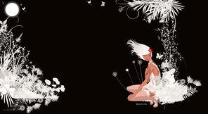 克隆QQ空间皮肤 chic 月光花园QQ空间皮肤代码 chic 月光花园套装