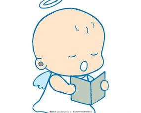 读书的小天使 天使 小天使 宝宝 婴儿 儿童 卡通宝宝 卡通婴儿 卡通-向...