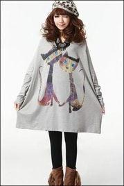 扣阴蒂15p-宽大的衣服感觉很韩版呢,袖子连着衣片,款式的设计有点类似与蝙蝠...