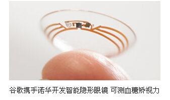 ...手诺华开发智能隐形眼镜 可测血糖矫视力