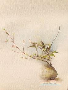...日一花十图集锦水彩花卉日式