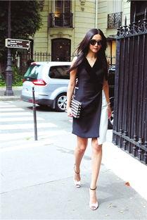 动态图27报后入式-蕾鲜少参加时尚活动,但近日以一袭黑白简约小礼服亮相巴黎某