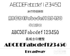 有哪些漂亮的英文字体及如何表现