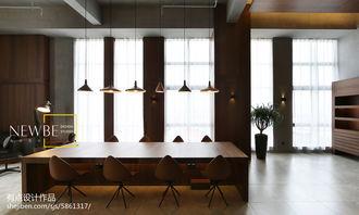 现代美式办公室窗户设计图-小型办公室装修设计图片 老总办公室装修...