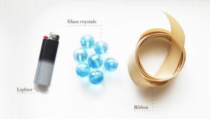 手工制作冰蓝水晶串珠手链教程