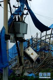 万修皆道- 在贵州省福泉市龙昌镇茅沟堡村,电力设施及工厂厂房遭遇暴风冰雹袭...