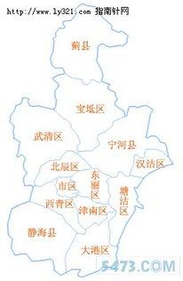 天津市行政区划地图