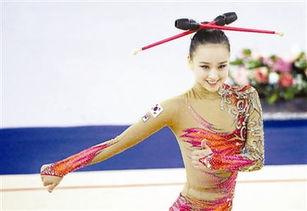 操逼的-...手孙妍在进行棒操比赛. 新华社记者   摄 -国民女神 首秀紧张