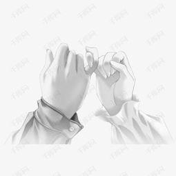 ...情 素描勾手指拉勾手势素材图片免费下载 高清png 千库网 图片编号...
