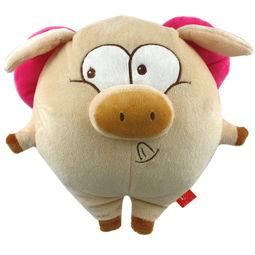 毛绒玩具娃娃卡通Q版猪猪公仔天使猪 笨笨猪 调皮猪 飞天猪图片,毛...