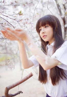 春意黯然清纯少女写真 甜美似灿烂的花朵