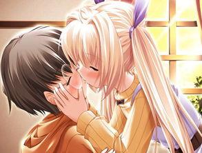 唯美卡通男女热吻图片