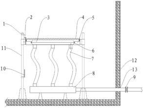 隔流界-1.污水处理中平流隔油沉淀池无动力排水装置,其特征是:包括排水箱...