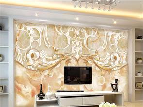 大理石欧式花纹背景墙3D欧式花纹卧室壁画图片设计素材 高清psd模板...