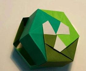 折纸盒子大全图解 绿色的盒子