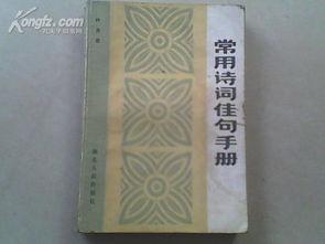 常用诗词佳句手册 80年代的正版二手学生学习参考用书