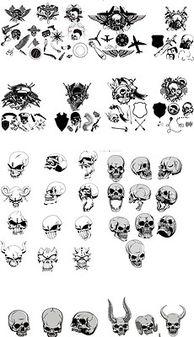 单色黑白恐怖骷髅头像海盗T恤烫印元素EPS格式矢量图素材-印图素材 ...