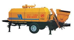拖泵型号 -三汇利1200A 08 195D柴油机S阀型砼泵