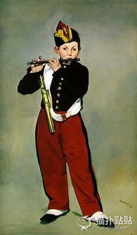 著名油画 吹笛子的少年 爱德华 马奈