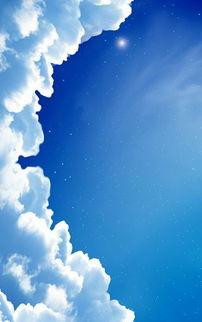 蓝色天空唯美手机图片