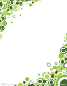 绿色抽象光圈背景图片