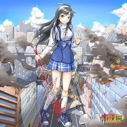 巨大少女吞人-巨人少女进击城市 二次元巨大化萌妹图集预览