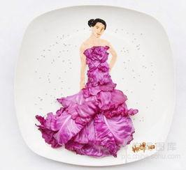 以盘子为画布 以食物为原料作画的艺术创作6603962 吃喝