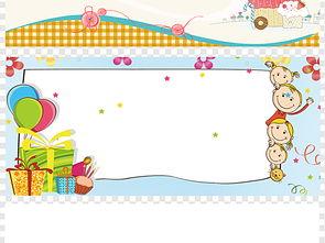 儿童照片背景儿童艺术照儿童背景图片图片下载素材 卡通边框
