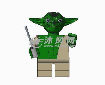 外星绿色小怪兽公仔模型