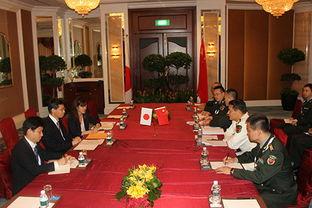 ...曾有两次站立交谈.中谷元还表示想要访问中国并与国防部部长常...