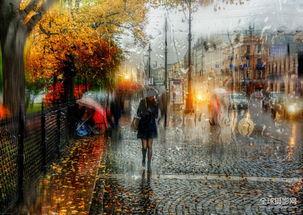 冰帝行都市-圣彼得堡 雨中城市