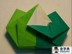 折纸盒子大全 图解 绿色的盒子