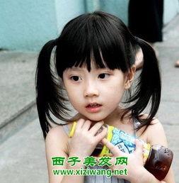给小女孩扎辫子的扎法图片