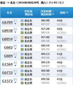 北京地铁线路及时刻表