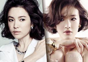 韩国超模刘智安和韩国女神宋慧乔也撞发型了?没错,相似度达90%!...