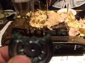 ...迷口福 巧克力蛋糕坦克细节超逼真
