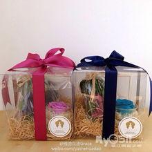 ...pcake装和透明礼盒里面的小花瓶可以做车载装饰噢!-..精品永生花....