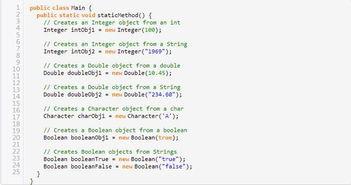 ...学堂知识整理 Java数据类型包装器