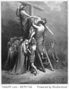 亚利马太的约瑟带来了耶稣从十字架上下来,照片来自圣经,旧约全书 ...