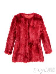 DKNY大红皮草外套-红色系穿搭超简单 鸿运当头就靠它