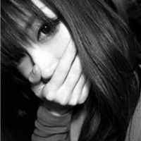 黑白QQ女生头像