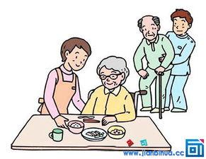 ...孝敬老人的彩色简笔画图片,简笔画孝敬老人带颜色