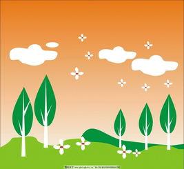 风景树木图片卡通动画图片
