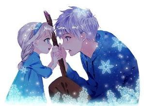 艾莎和杰克冻人