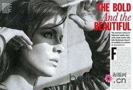 英国女演员凯特·贝金赛尔 (Kate Beckinsale) 登上了3月号的《...
