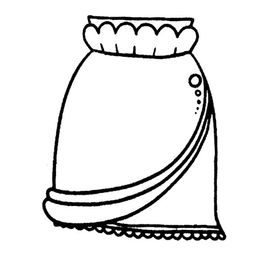 短裙子简笔画