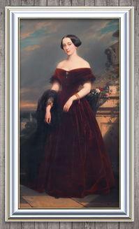 雍容高贵的伯爵夫人古典主义油画